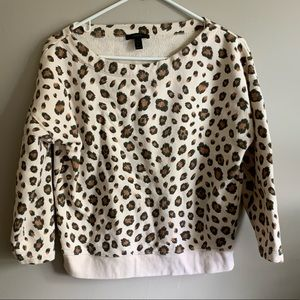 Jcrew cheetah sweatshirt
